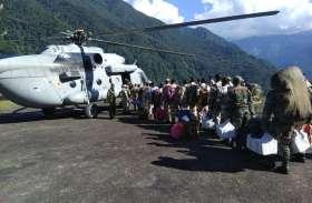 सिक्किम में रेस्क्यू ऑपरेशन जारी, 48 घंटे में सेना के जवानों समेत 342 जिंदगियां बचाई गईं