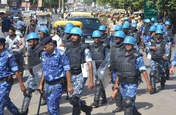 छावनी में बदल गया अलवर शहर, 500 से अधिक पुलिस व सुरक्षा बल के जवानों ने किया फ्लैग मार्च, जानिए क्या है कारण
