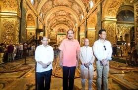 माल्टा में उपराष्ट्रपति वेंकैया नायडू ने किया पर्यटन स्थलों का दौरा