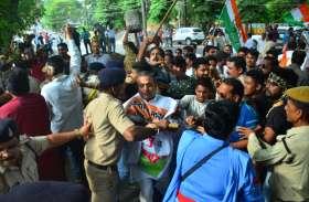 कांग्रेस भवन में घुसकर कांग्रेसियों की पिटाई, मंत्री अमर अग्रवाल के बयान का कर रहे थे विरोध