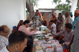 शिविर में जांची गई १८० मरीजों की सेहत