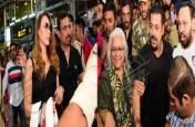 जयपुर एयरपोर्ट पर फैंस की भीड़ के बीच घिरे सलमान और यूलिया, देखें तस्वीरों में