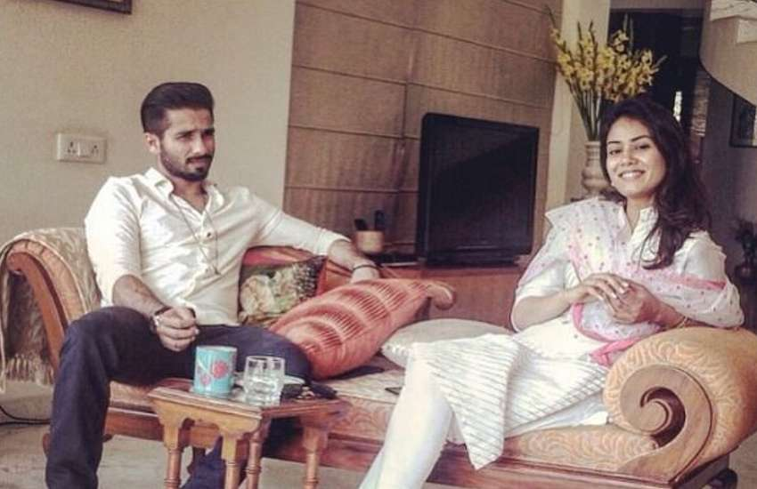 shahid kapoor and mira rajput first photo after baby boy born