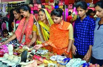 पत्रिका मेगा ट्रेड फेयर : लुभा रही भुनी नमकीन और सहारनपुर का फर्नीचर