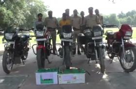 वाहन चोरों के गिरोह का पर्दाफाश, चोरी की 5 मोटरसाइकिल और 2 बैट्री बरामद