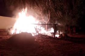 VIDEO : जयपुर जिले के खोरा बिस्या की ढाणी में आग, मवेशी झुलसे