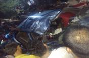तेज रफ्तार हाइवा ने कार को रौंदा,डॉक्टर समेत तीन की मौत