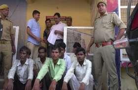 कासगंज पुलिस का जुआरियों के खिलाफ अभियान, 12 जुआरी गिरफ्तार