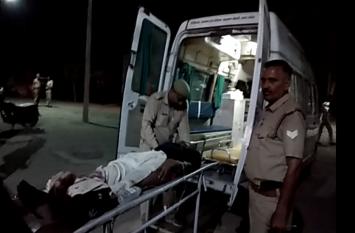 पुलिस और बदमाशों के बीच खूनी संघर्ष, मुठभेड़ में एक बदमाश और एक जवान घायल, देखें वीडियो