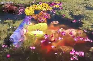 प्रतिमा विसर्जन से आमेर के सागर का हुआ यह हाल, देखें वीडियो