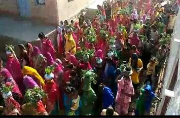 गौ संरक्षण चेतना पदयात्रा का भटनोखा में स्वागत