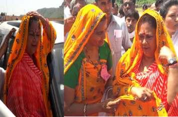 'पीली लुगड़ी' ओढ़ाकर CM राजे का हुआ स्वागत, जयपुर संभाग में शुरू हुई राजस्थान गौरव यात्रा