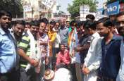 एससी एसटी एक्ट एवं केंद्रीय राज्यमंत्री वीरेंद्र कुमार के बयान के विरोध में हुआ प्रदर्शन