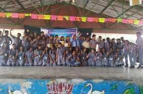 केन्द्रीय विद्यालय आईलैंड ग्राउंड में बैंक ऑफ इंडिया ने मनाया हिन्दी दिवस