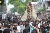 Muharram 2018 लखनऊ में बड़ी ही शांतिपूर्ण ढंग से निकाला दसवीं मोहर्रम का जुलूस