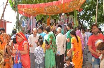 गणपति बप्पा मोरिया, अगले बरस तू जल्दी आ,जिले भर में शोभायात्राएं निकाल किया गणेश प्रतिमाओं का विसर्जन