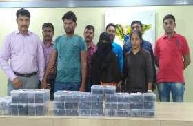 तीन करोड़ की चरस के साथ महिला सहित दो गिरफ्तार