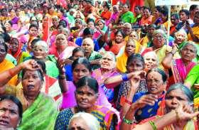 आंगनबाड़ी कार्यकर्ताओंं ने केंद्र सरकार को जमकर कोसा