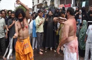 नवाबों के शहर में हिन्दू और मुस्लिम ने एक साथ निकाला मुहर्रम का जुलूस