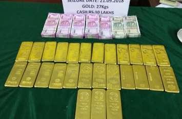 डीआरआई ने सिलीगुड़ी से जब्त किया 8.62 करोड़ का सोना
