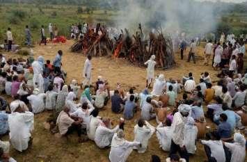 #LIVE : 6 महिलाओं का एक साथ अंतिम संस्कार,  सन्न रह गया सीकर के कांवट का सैनी मोहल्ला