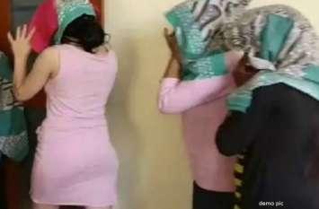 जिस्मफरोशी के अड्डों पर पुलिस की रेड, आपत्तिजनक हालत में ही भागने लगे हुए युवक-युवतियां