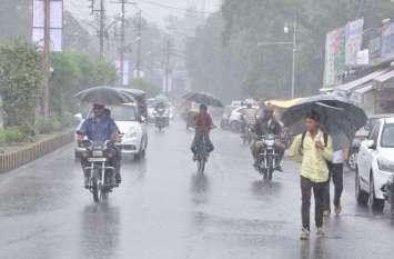बारिश से जनजीवन अस्त-व्यस्त, कहीं 3 इंच तो कहीं 7 इंच