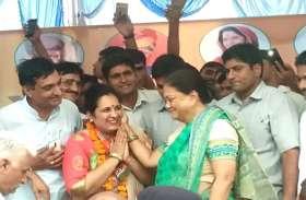 CM raje @ बुहाना : गौरव यात्रा में पूर्व प्रधान नीता यादव ने ज्वाइन की BJP