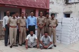 आबकारी पुलिस को यूं दिया चकमा, दो जने पकड़े, लाखों की अवैध शराब बरामद