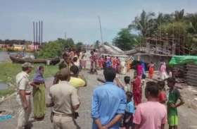 VIDEO: पश्चिम बंगाल के दक्षिण दो परगना में फिर गिरा पुल, बाल-बाल बचे लोग