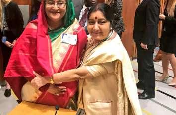 विदेश मंत्री सुषमा स्वराज ने कई देशों के नेताओं से की मुलाकात, द्विपक्षीय संबंधों पर की चर्चा