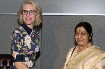 संयुक्त राष्ट्र महासभा में भाग लेने आए कई देशों के नेताओं से सुषमा स्वराज ने की मुलाकात