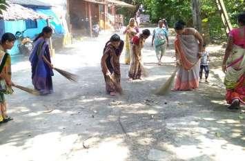 स्वच्छता ही सेवा के तहत चलाया सफाई अभियान