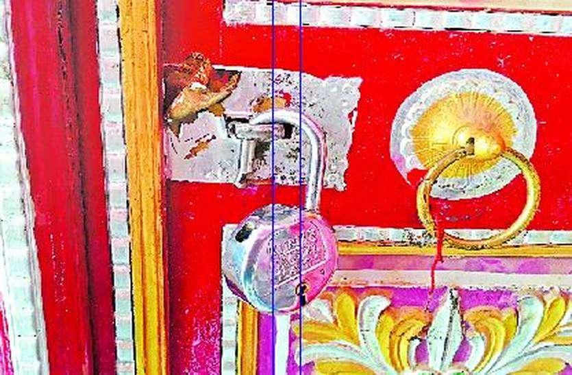आईमाता मंदिर में फिर घुसे चोर, चांदी के छत्र व दानपात्र उड़ाए