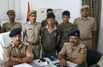 25 हजार का इनामिया बदमाश गिरफ्तार दस्यु बबुली कोल गैंग को सप्लाई करता था असलहे व् कारतूस