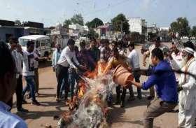 सीडी कांड, CM का पुतला फूंकते हुए कांग्रेसियों ने कहा हमारे नेता बघेल ने तो सिर्फ सीडी बांटी है...रविंद्र चौबे गिरफ्तार