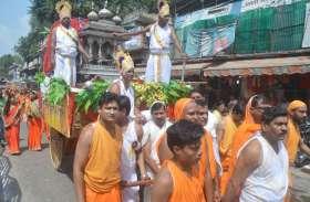 पर्युषण पर्व पर भगवान अनंतनाथ की निकली भव्य शोभायात्रा