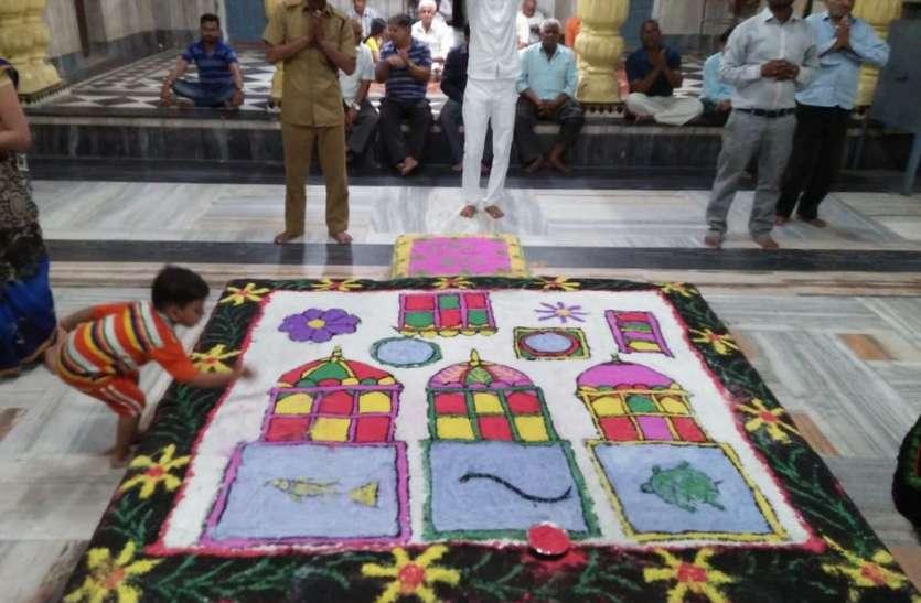 राजस्थान के करौली नगर में सांझी में झलकती है बृज की संस्कृति