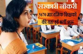शिक्षकों की भर्ती शुरू, तुरंत ऐसे करें अप्लाई