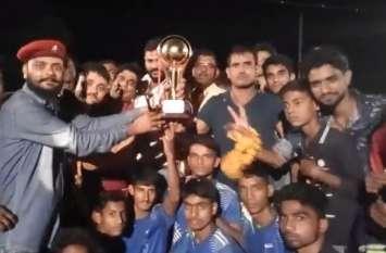 कबड्डी प्रतियोगिता में मेजबान बाय टीम रही विजेता