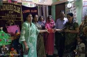 लायंस क्लब ने किया, अभिलाषा की, सेवा भावना का सम्मान