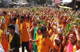 ग्यारह सौ महिलाएं कलश सिर पर धारण कर  हुई शामिल, श्रीरामकथा में बरस रहा धर्म का रस