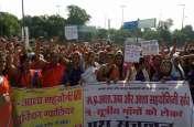 समान वेतनमान व सुविधा की मांग को लेकर आशा कार्यकर्ताओं ने किया प्रदर्शन