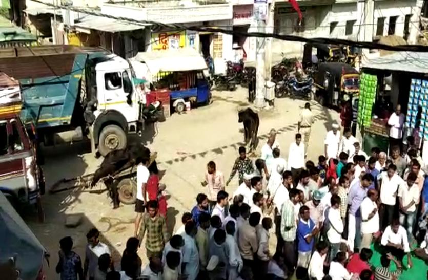 पुलिस के इस फरमान से बिगड़ा माहौल, आक्रोशित लोगों ने बाजार में रखे पशुओं के शव, प्रशासन में मचा हड़कंप। देखे वीडियो...