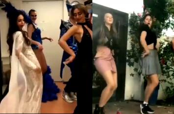 मस्ती करने में जैकलीन और डांस में मलाइका का जवाब नहीं, वीडियो दे रहे गवाही