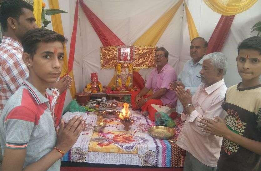 घर-घर घट स्थापना के साथ शुरू हुआ नवरात्रि महोत्सव