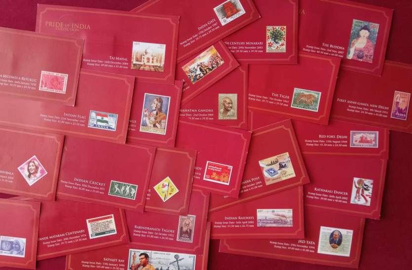 Pride of India Collection : लेकसिटी के संग्राहक भाणावत के पास 25 डाक टिकटों की शृंखला-गाथा