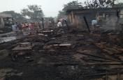 सब्जी मंडी में लगी भीषण आग, कई दुकानें जलकर खाक
