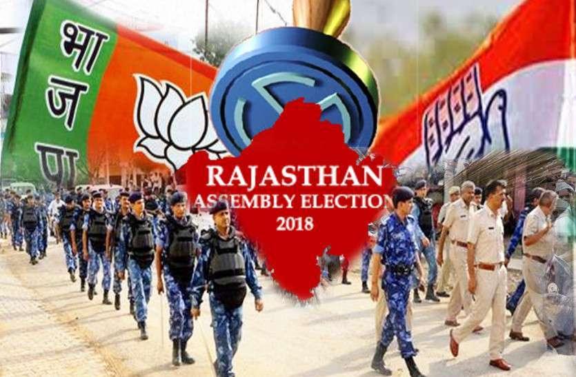भारी सुरक्षा के बीच होगा राजस्थान में मतदान, सवा लाख जवान होंगे तैनात, बूथों की निगरानी करेगी अर्द्धसैन्य बलों की कम्पनियां