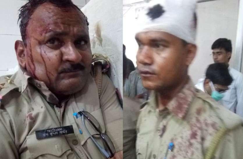 सुलतानपुर में पुलिस टीम पर अचानक हुआ हमला, सीओ समेत कई सिपाही अस्पताल में भर्ती